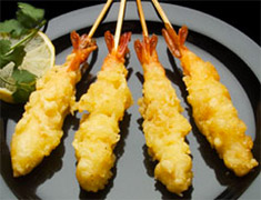 Tempura Shrimp Skewers