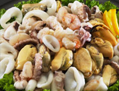 Seafood Mix - (Octopus, Mussel Meat, Calamari Rings, Shrimp & Clams)